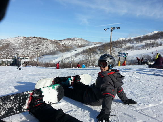 Joel snowboard