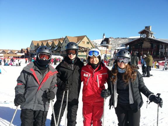 skiing with Hye