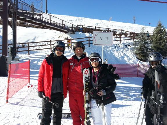 skiing with greg