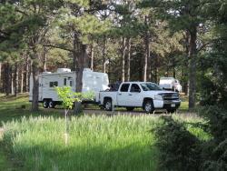 South Dakota Union Grove State Park camper