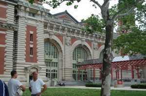 The main building at Ellis Island through whose doors so many passed.