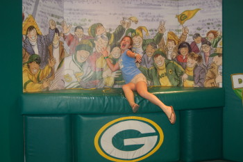 Lilia does the Lambeau Leap