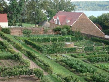 GEORGE WASHINGTON'S MOUNT VERNON ESTATE - THE LOWER OR KITCHEN GARDEN